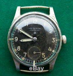 Rare Military WW2 Watch German Army UNIVERSAL GENEVE, SWISS, 1930-40s