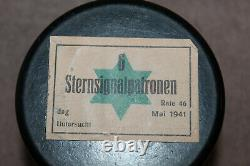 Rare Original WW2 German Army Bakelite Signal Flare Container (Empty) & 1941 d