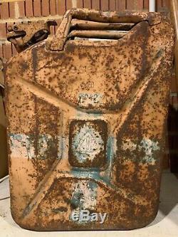 Rare WW2 German Army Water Jerrycan 1942 Wehrmacht Wasser 20L