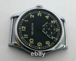 Rare Wristwatch German Army HELVETIA DH of period WW2