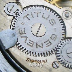 Rare Wristwatch German Army TITUS GENF GENEVE DH of period WW2