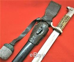 Rare Ww2 German Army Ks98 Parade Bayonet, Scabbard & Frog Alcoso Solingen