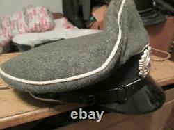 Reproduction German Ww2 Army Heer Infantry Wool Visor Cap Hat Size 60
