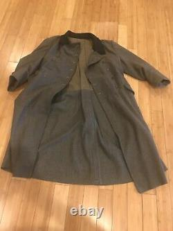 Reproduction WW2 German Army wool great coat High Quality Large Size