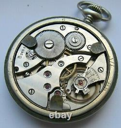 SILVANA DH pocket watch German Army Wehrmacht of period WWII. Military. New strap
