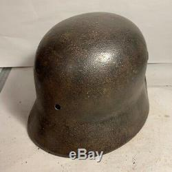 Stunning Squashed! German Army WW2 Relic M40 Helmet Recovered in Normandy
