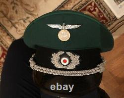 Superior Quality German WW2 Wehrmacht Officer Pekuro Visor