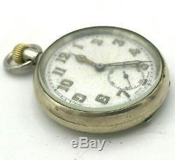 Swiss Military Pocket Watch Vintage OPTIMA 1930s Mechanical RARE German Army WW2