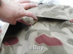 VINTAGE w GERMAN ARMY ISSUE BGS tan & water WW2 sumpftarn tarn camo JACKET COAT