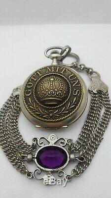 Vintage Rare Military WWII 1942 German Army Pocket Watch