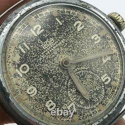 Vintage Swiss Watch ARSA DH Mechanical Black WW2 Military German Army SERVICED