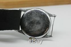 Vintage Technos mechanical Swiss watch WWII Serviced Military German Army 15j