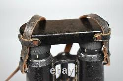 Vintage WWII German 10x50 Dienstglas Panzer Binoculars BMJ Hensoldt Wetzlar WW2