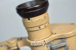 Vintage WWII German 6x30 Dienstglas Binoculars DDX Voigtlander Tan