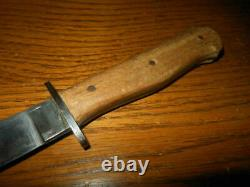 WW II German Army Nahkampfmesser COMBAT BOOT KNIFE / TRENCH KNIFE VERY NICE