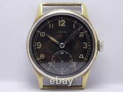 WW2 1944 Military Wristwatch German Army Zenith DH