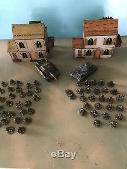 WW2 BOLT ACTION WWII 28mm Painted German Starter Army With Terrain and Tanks