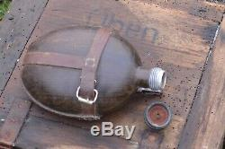 WW2 GERMAN Wehrmacht ARMY WATER CANTEEN FLASK COCONUT AFRICA CORPS ORIGINAL