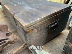WW2 German Army 15cm K. 10 Cannon Parts Wooden Box All Original HUGE BOX