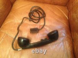 WW2 German Army Field Telephone, Dated 1940, Bakelite, Wehrmacht WITH US HEADSET