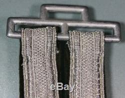 WW2 German Army Officer's Deluxe Dagger Hangers. Silver Bullion. NICE! S179