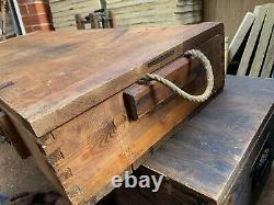 WW2 German Army Panzerfaust Klein 60 x4 Wooden Box Original 1944 Dated Label
