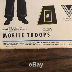 WW2 German Army Uniform Poster Newsmap Jan 1944 Army Orientation Poster Original