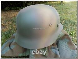 WW2 German Army WH, ELITE 3 Colours Normandy D-DAY 1944 Camo M35 Helmet Repro