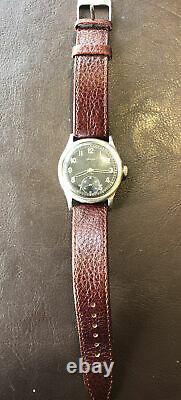 WW2 German Army Wrist Watch Helma 15 Jewel Movement D H Designation Swiss