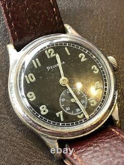 WW2 German Army Wrist Watch -Helvetia 15 Jewel Movement D H Designation Swiss