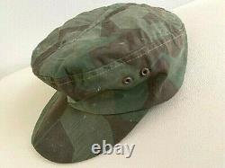WW2 German Army splinter pattern camo hat. Size 56. Orig