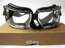 WW2 German Goggles Motorcycle Panzer Vintage aviator driving Wehrmacht New WWII