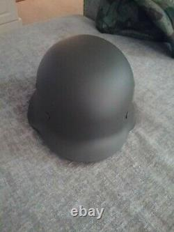 WW2 German army helmet with waffen ss camo cover reproduction