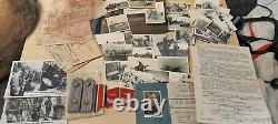 WW2 German document photo group of 1 Officer, Monte Cassino, Dunkirk, soldbuch