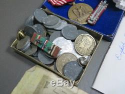 WW2 US Army 9Th Armored Division MP Grouping Named with Paperwork+German Coins