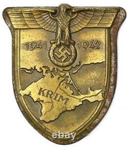 WWII 1941 1942 German Krim Shield War medal Military