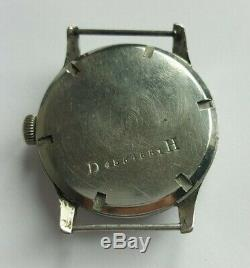 WWII 40s Doxa German Army Issued Military Sub-Second Watch 34mm Diameter