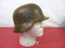 WWII Era German Army M1935 M35 Stahlheime Steel Helmet withLiner Ring Original