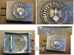 WWII German Army Belt Buckle with Makers Marks to Reverse Well marked