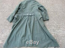 WWII German Army Model 40 Wool Overcoat with Field Grey Collar