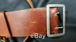 WWII German Army Officer's Double Claw Belt With Over The Shoulder Strap
