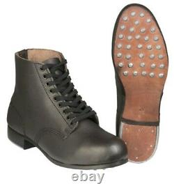 WWII German Army Studded Short Boots NEW REPRO UK SIZE 10/EU44/US11
