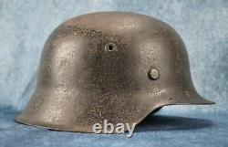 WWII German Heer m42 combat helmet soldier Wehrmacht uniform US Army Vet estate