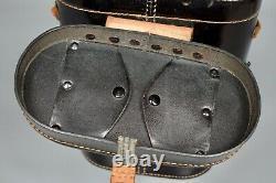 WWII German Kriegsmarine 7x50 Leitz BEH Presstoff Binoculars Case Original 1943