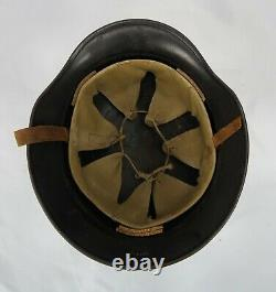 WWII German Luftschutz beaded m40 helmet soldier camouflage civilian steel army