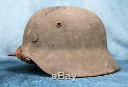 WWII German Wehrmacht Heer camouflage camo combat helmet US Army soldier capture