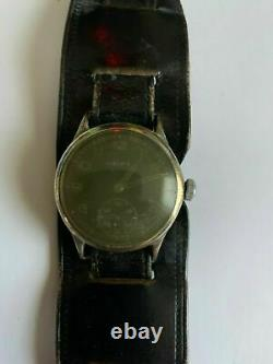 WWII Helma D-H Service Wristwatch German Army for The Wehrmacht WithO