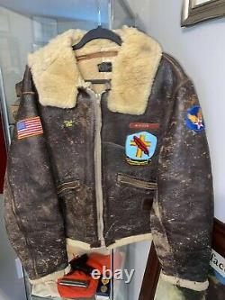 WWII Painted Flight Jacket Named D Day Air Force Corp Army German Interview Name