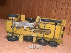 WWII TIN WIND UP ARMY VEHICLE w TOY GERMAN SOLDIERS CANNON LINEOL ELASTOLIN WW2
