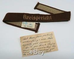 WWII US Army Vet German soldier uniform cuff title trophy ribbon insignia patch